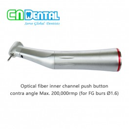 COXO® Optical fiber inner channel push button contra angle